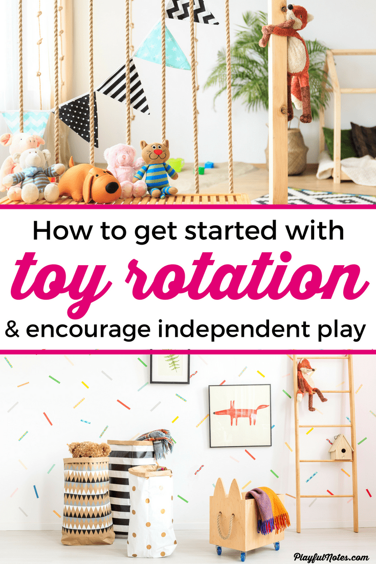 This step-by-step guide to toy rotation will help you reduce toy clutter and finally have all the toys organized! Your kids will play more with the toys they have and clean up will become a lot easier! --- Toy rotation | How to rotate toys | Toy rotation ideas | Toy organization ideas #AdviceForMoms #MotherhoodTips #ToyOrganization