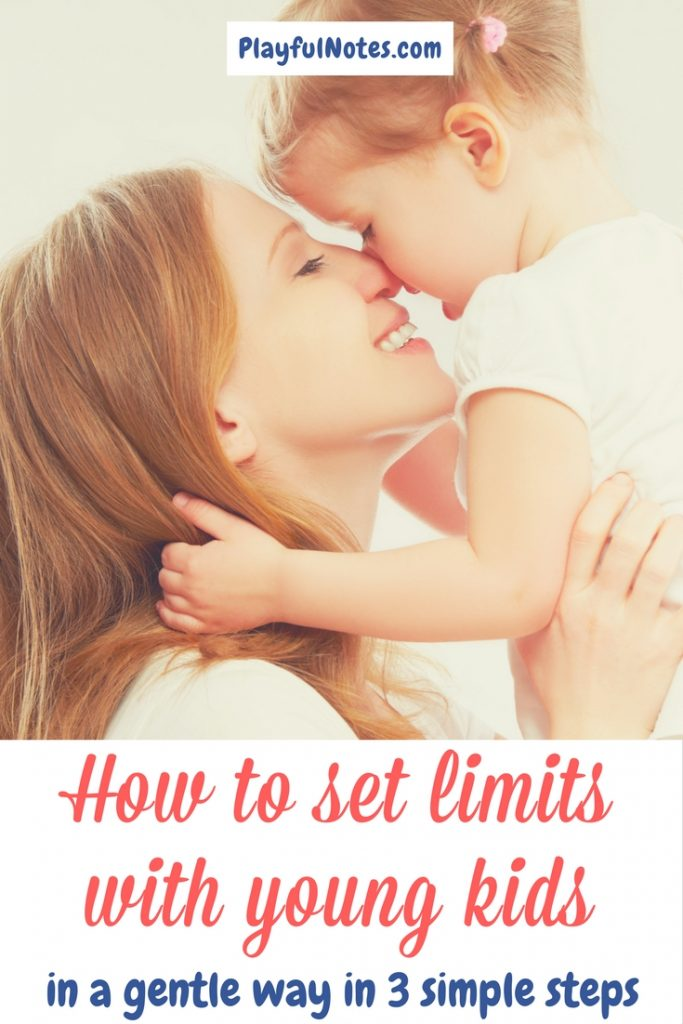 Positive discipline tips: If you are struggling about how to set limits with young kids, here are 3 steps that can help you do this in an effective and gentle way! | Gentle parenting | Positive parenting | How to set limits | How to handle tantrums