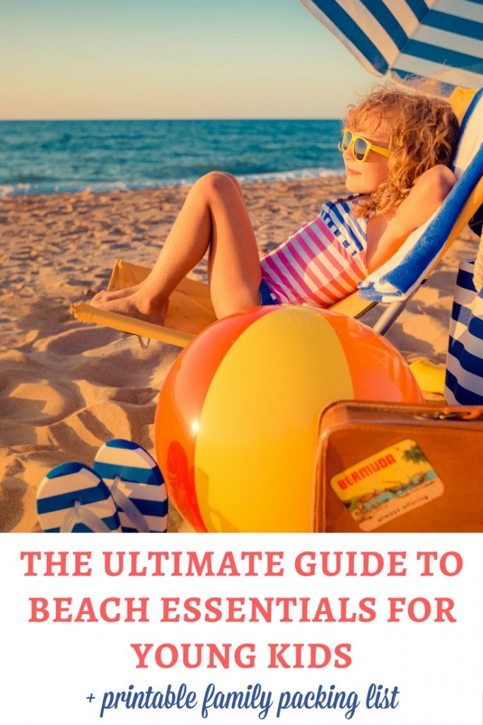 Beach essentials for kids: If you are preparing for a family holiday at the beach, check out this guide of beach essentials for young kids! | Beach essentials for toddlers | Beach essentials for preschoolers | Beach essentials for babies | Packing list | Printable family packing list | Beach items for kids | Beach packing list