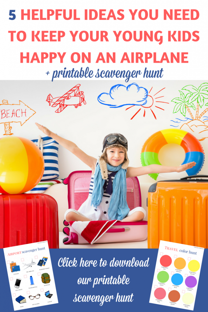 Airplane travel activities for kids:If you are preparing for a flight with a young child, here are 5 great airplane activities for young kids that can make your trip more enjoyable! | Airplane activities for toddlers | Airplane activities for preschoolers | Airplane activities for kids | Airplane travel activities for kids