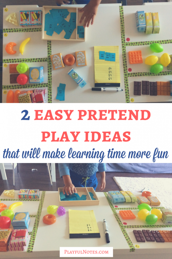 2 easy pretend play ideas that will make learning time more