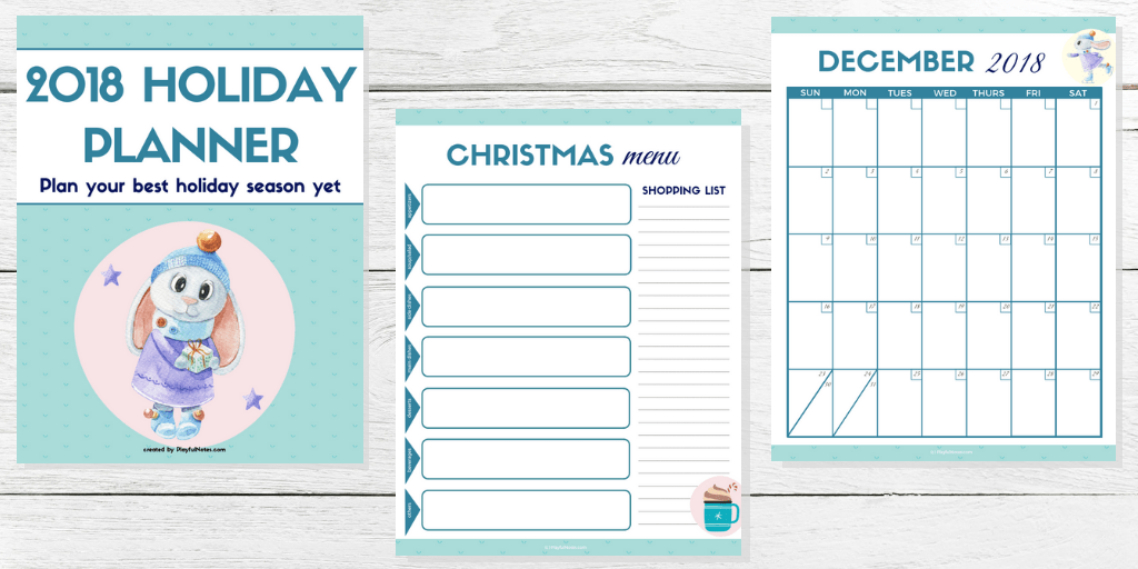 2018 Holiday Planner