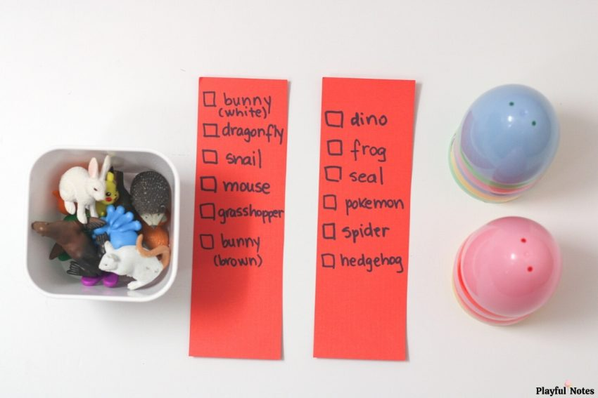 easter eggs DIY memory game for kids