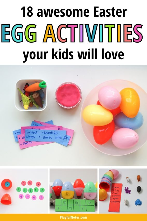 Discover 18 awesome Easter egg activities for kids that you can quickly prepare for your little ones! The kids will have fun with these Easter activities and they will have plenty of learning opportunities as well!