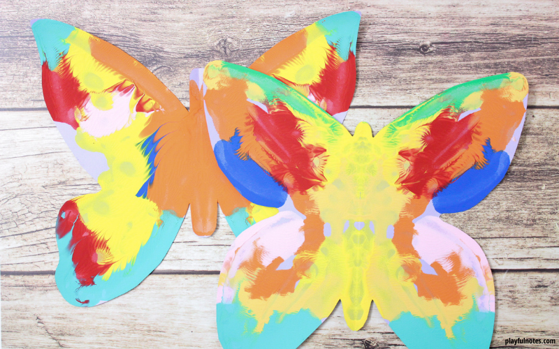 april activity calendar for kids butterfly painting