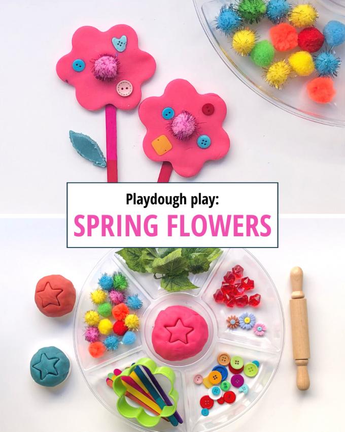 april activity calendar for kids spring flowers