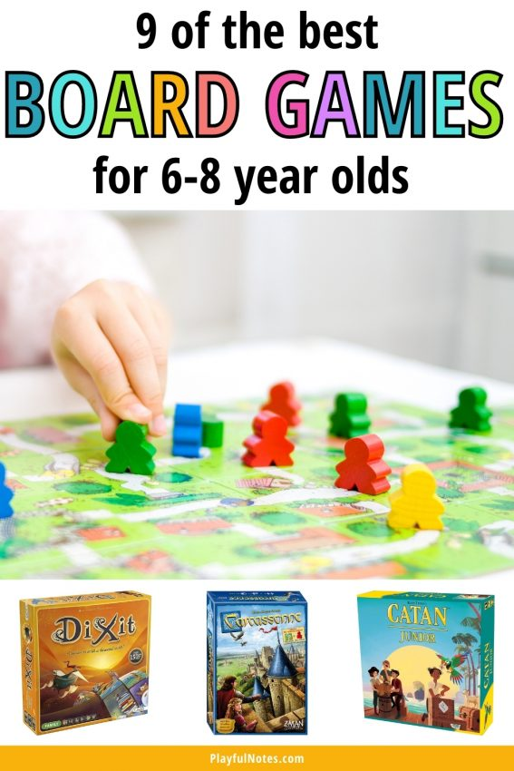 Discover the best board games for 6-8 year olds and try them with your kids! They will bring hours of family fun and your little ones will love them!