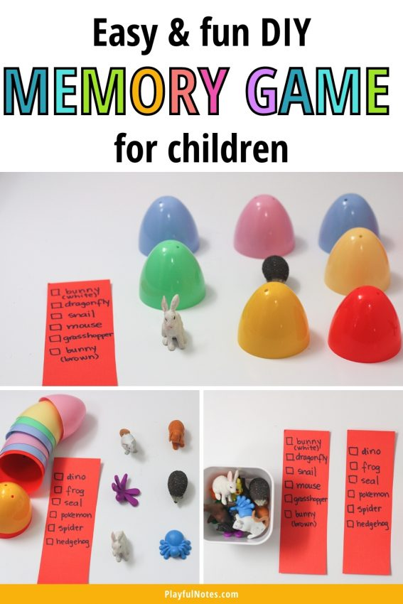 Prepare this easy and fun DIY memory game for kids and enjoy it with your little ones!
