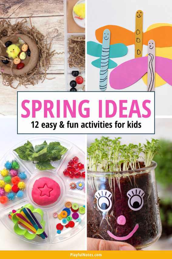 Discover 12 easy and fun spring activities for kids that you can quickly prepare for your little ones!
