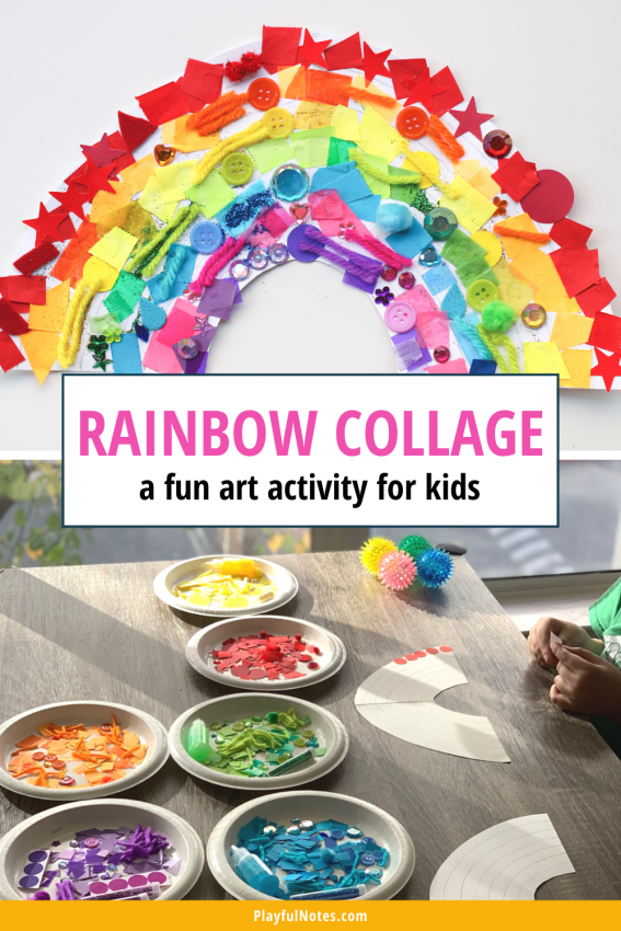 Rainbow collage: A fun art activity for kids