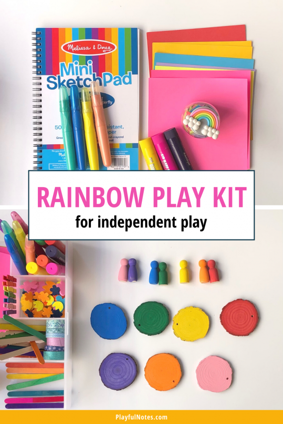 Rainbow play kit for independent play