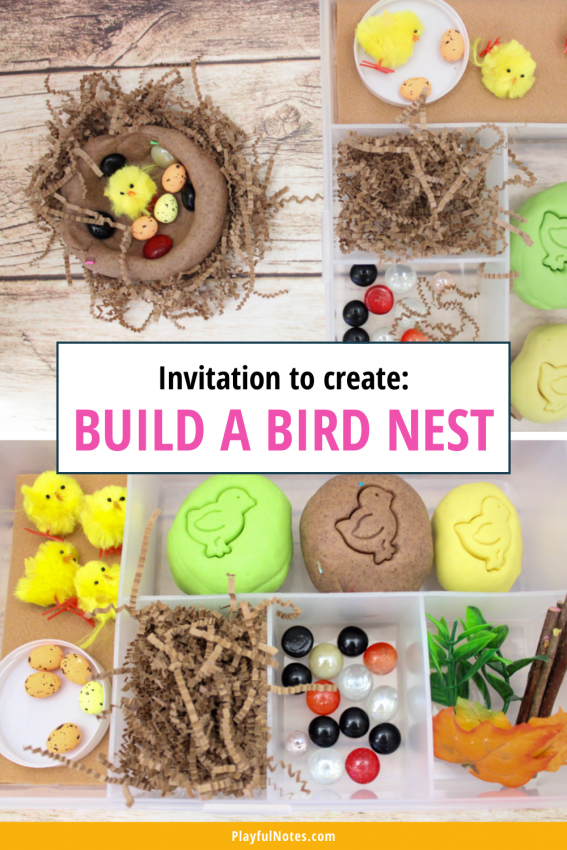 Invitation to create: Build a bird nest Discover 12 easy and fun spring activities for kids that you can quickly prepare for your little ones! - Children's activities | Spring activity ideas