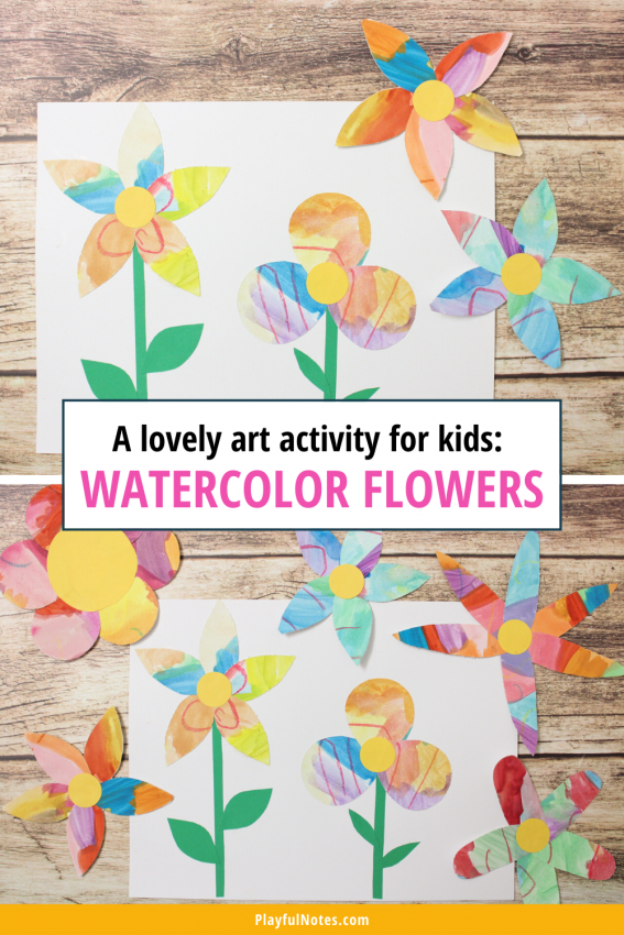 Watercolor flowers: A lovely art activity for kids