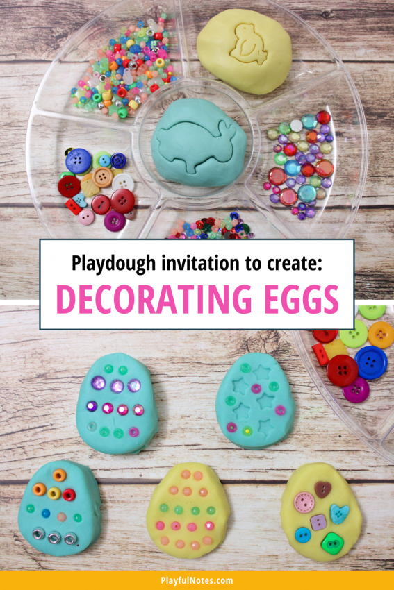 Playdough activity: Decorating Easter eggs