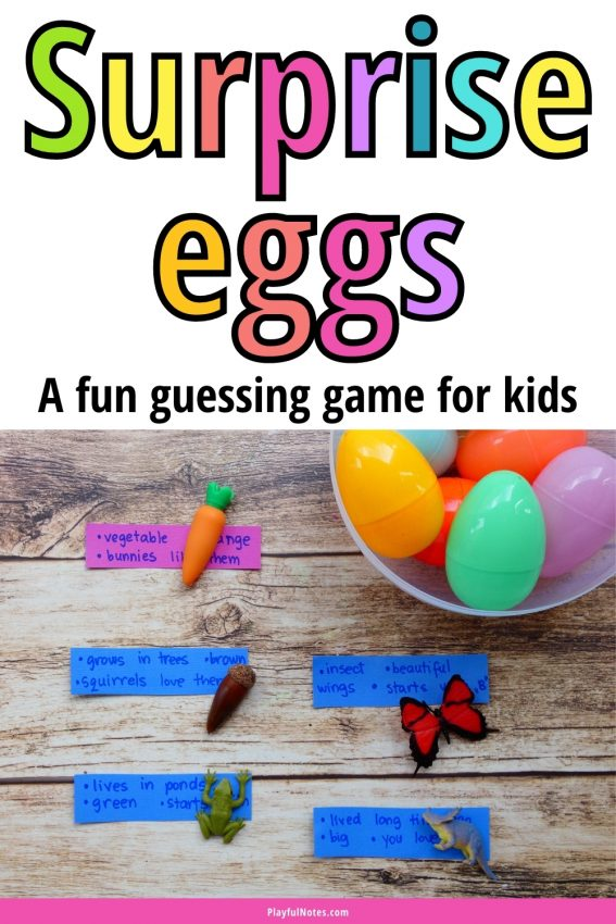 Surprise eggs: A fun guessing game you can easily prepare using plastic eggs