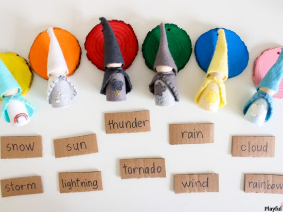 weather theme learning area