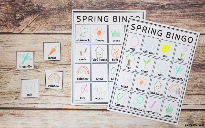 april activity calendar for kids bingo game