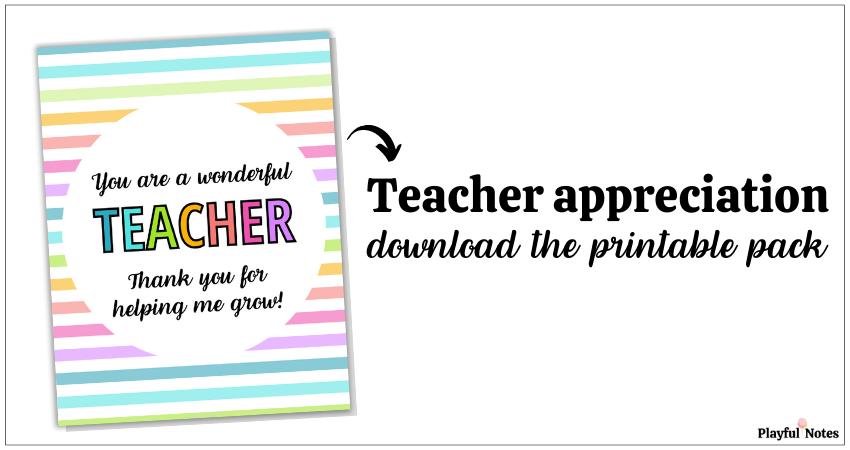 teacher appreciation ideas printable pack