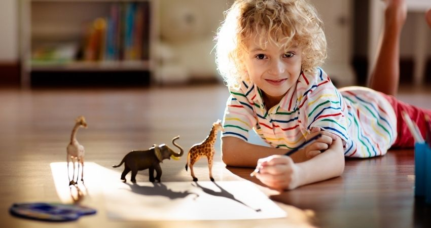 may activity calendar for kids shadow drawing