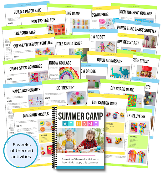 summer camp at home activities for kids