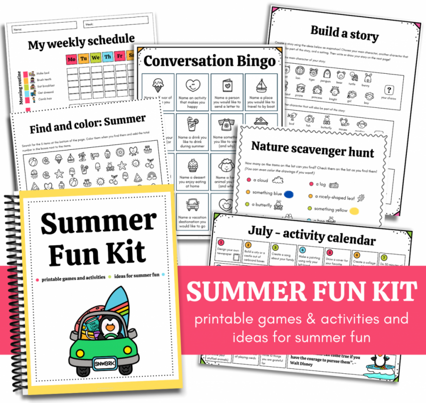 summer activities for families - summer fun kit for kids