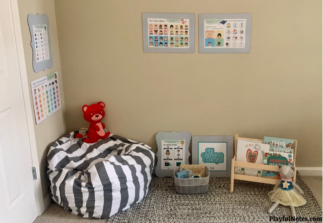 calming space for kids