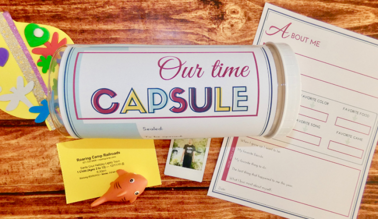How to make a wonderful family time capsule {+ printable}