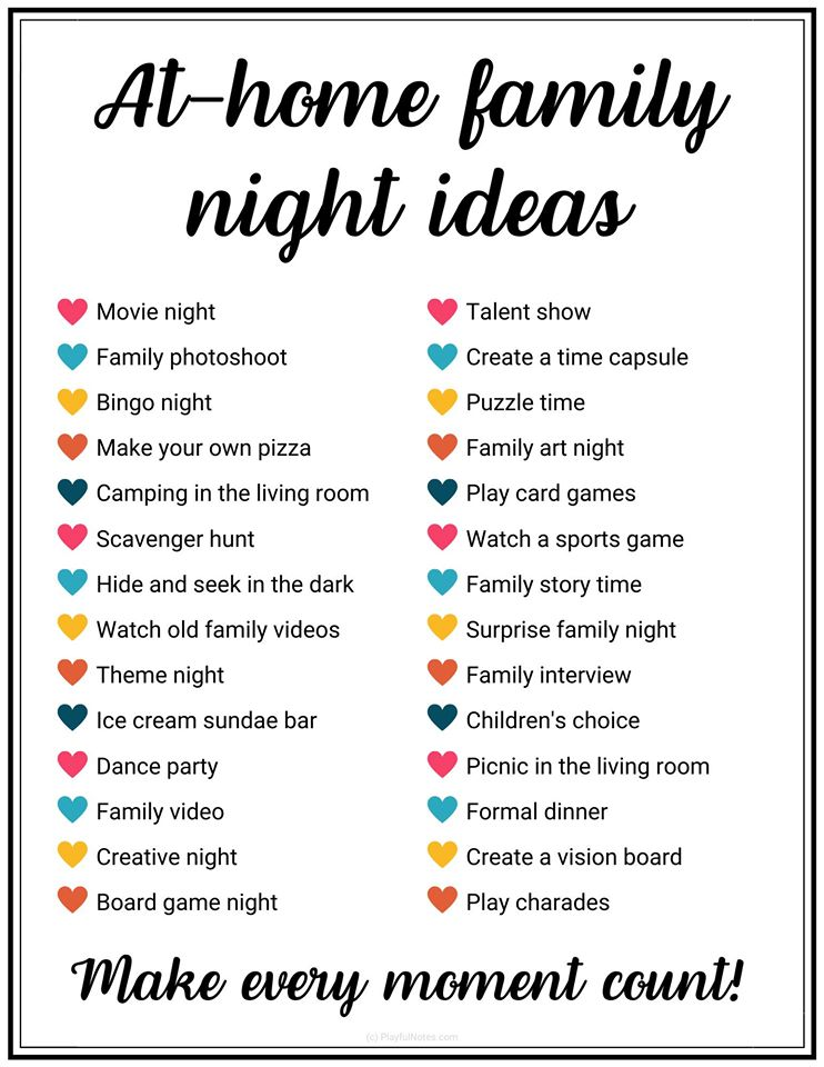 at home family night ideas