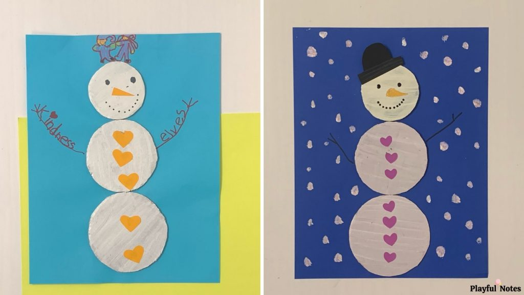 Christmas activities for kids - snowman craft