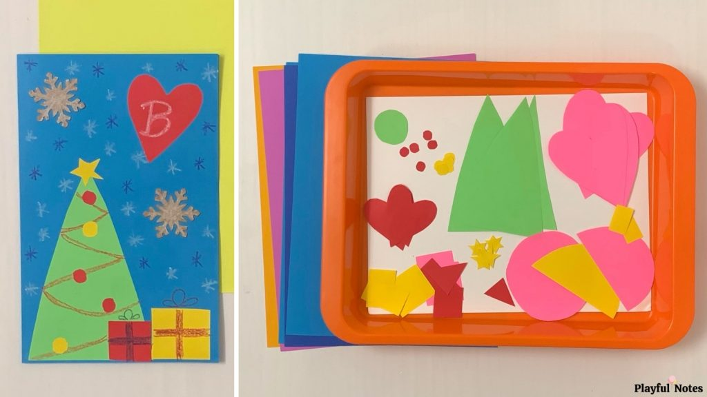 Christmas activities for kids - homemade Christmas cards