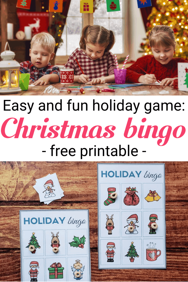 Download a lovely Christmas bingo to enjoy with your family! It's an easy and fun game and your kids will love it! --- Christmas games for kids | Family activities for Christmas | Printable Christmas bingo game