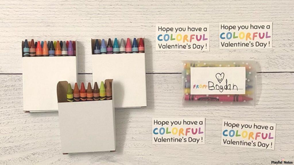DIY Valentines for kids crayon Valentines