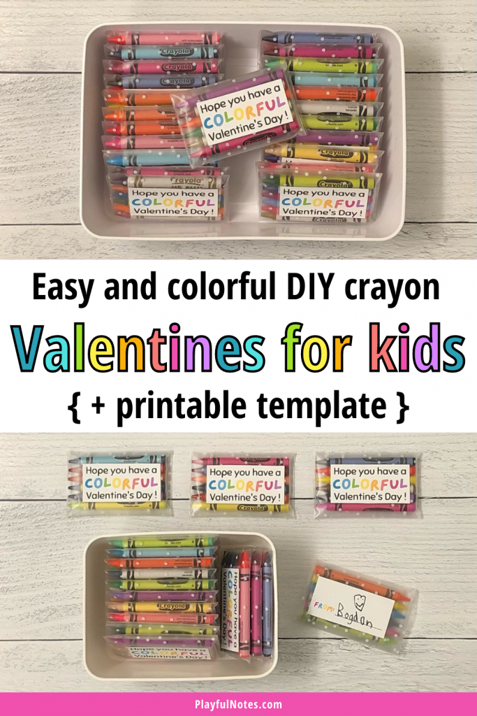 These colorful DIY Valentines for kids are easy to create and make great gifts for kids to offer to their classmates on Valentine's Day!