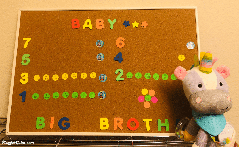 DIY countdown to baby calendar