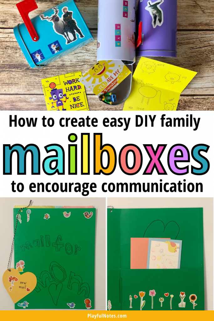 Create these easy DIY family mailboxes and encourage more communication with your kids in a playful way!