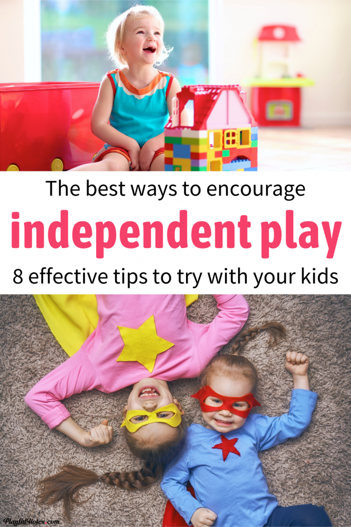 Discover 8 ways to teach kids to play independently. These easy tips will encourage independent play, boost your kids' creativity, and allow you to have some quiet time while they happily play on their own. --- How to encourage independent play for toddlers and preschoolers | Parenting tips