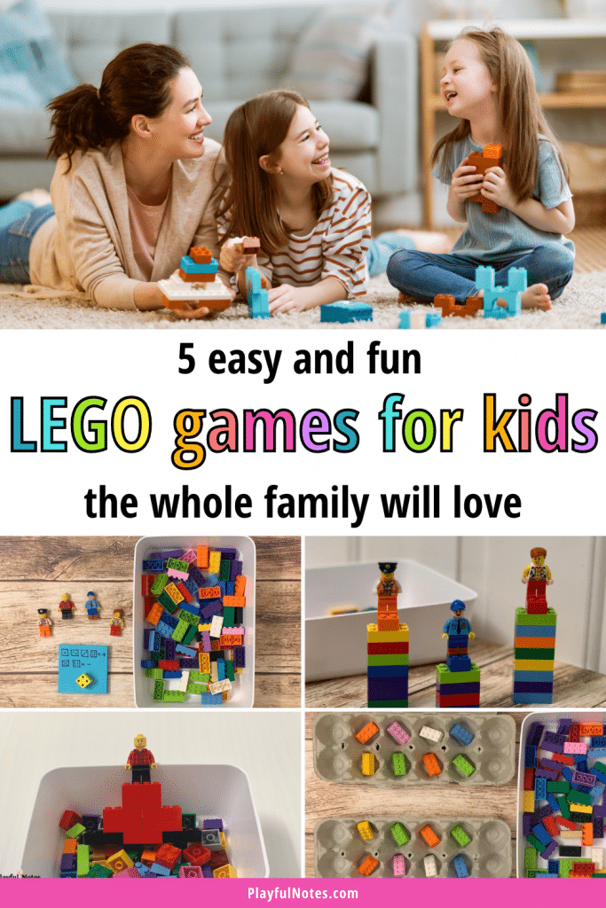 Discover 5 easy and fun LEGO games for kids your whole family will love! You can quickly prepare them and they are a great way to connect with your kids and have fun together!