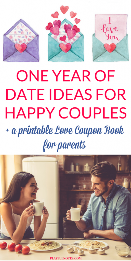 One year of date ideas for happy couples: A love coupon book for parents