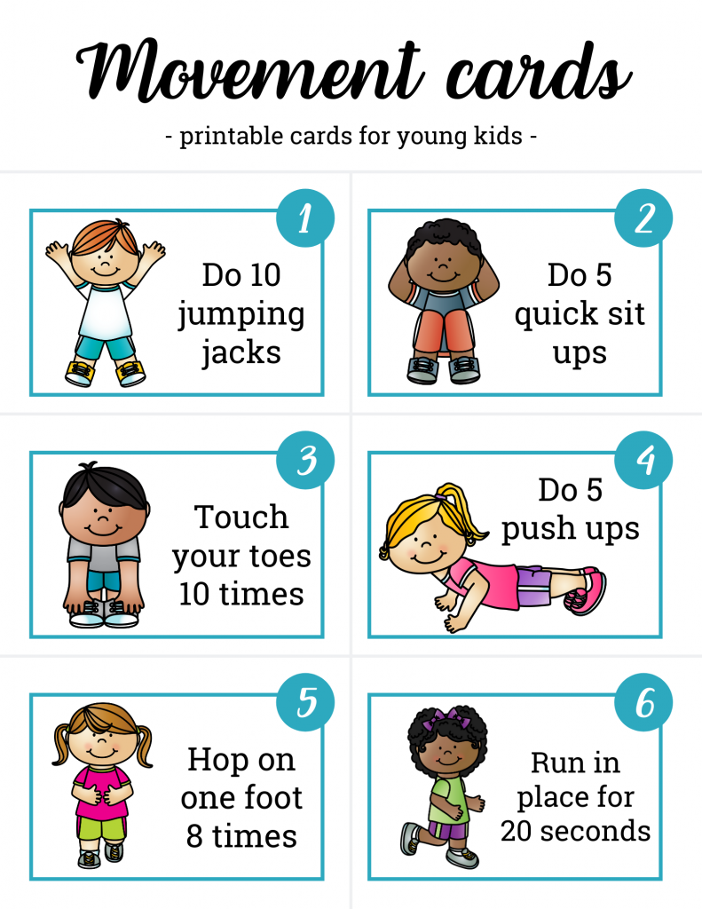 movement cards for kids