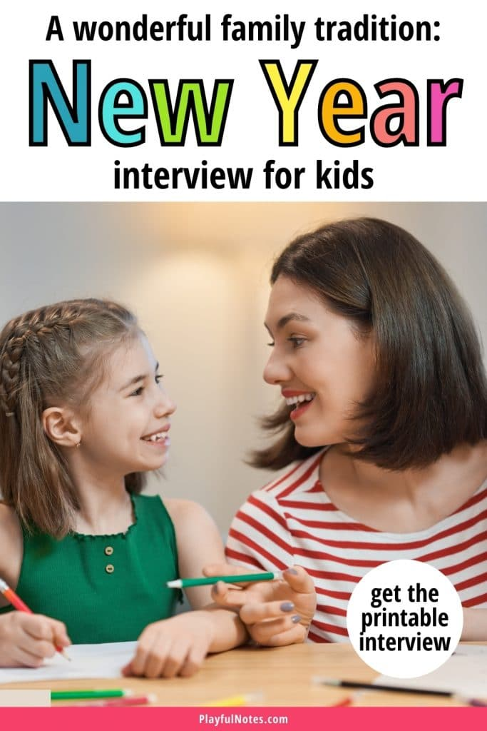 A New Year interview for kids is a wonderful way to capture precious memories! Download the printable interview and start this lovely tradition with your children!