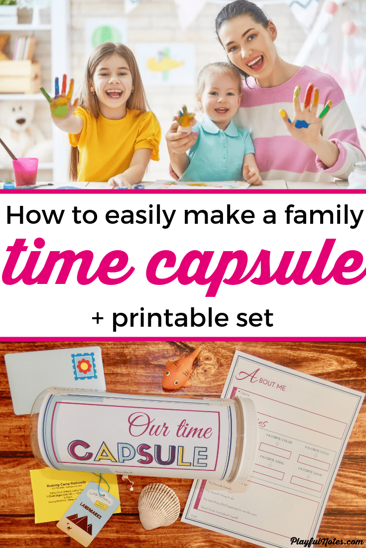 Discover an easy way to create a family time capsule that will preserve precious family memories for years to come. It's a very fun idea and your kids will certainly love it! --- Family time capsule ideas | Family fun | Time capsule printables for kids | How to make a DIY time capsule #FamilyLife