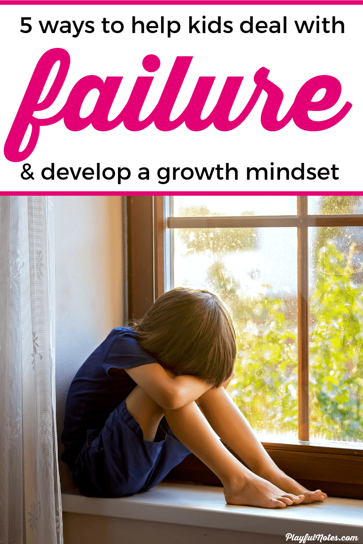 If your child deals with the fear of failure, here are 5 easy ways you can help them overcome their fear and look at failures at opportunities to learn. --- Growth mindset for kids | How to overcome fear of failure | Positive parenting tips #RaisingKids #ParentingTips