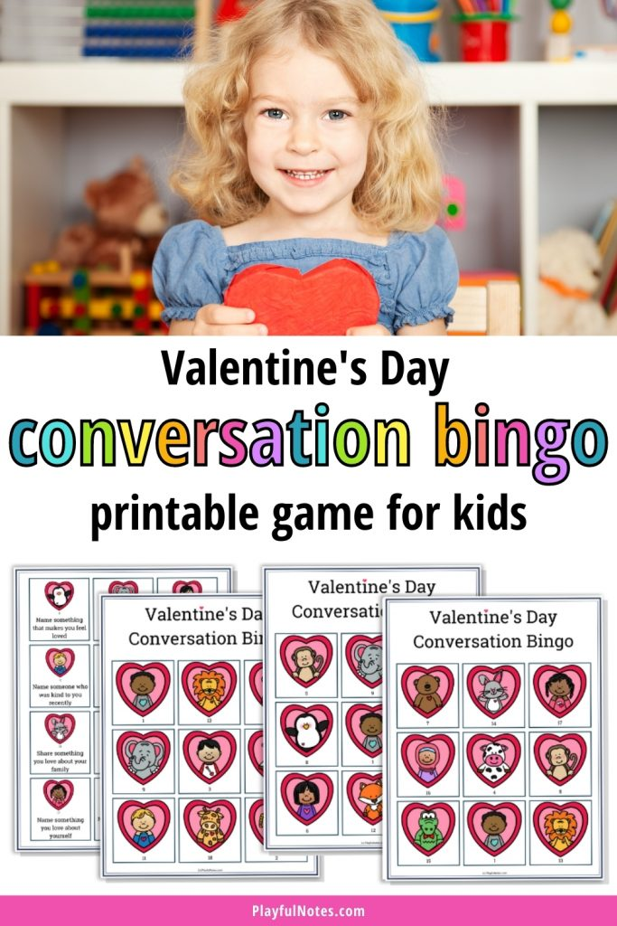 Download a printable Valentine's Day bingo game to enjoy with your family. Kids will love this game, and you'll get the chance to connect with them using the conversation cards!