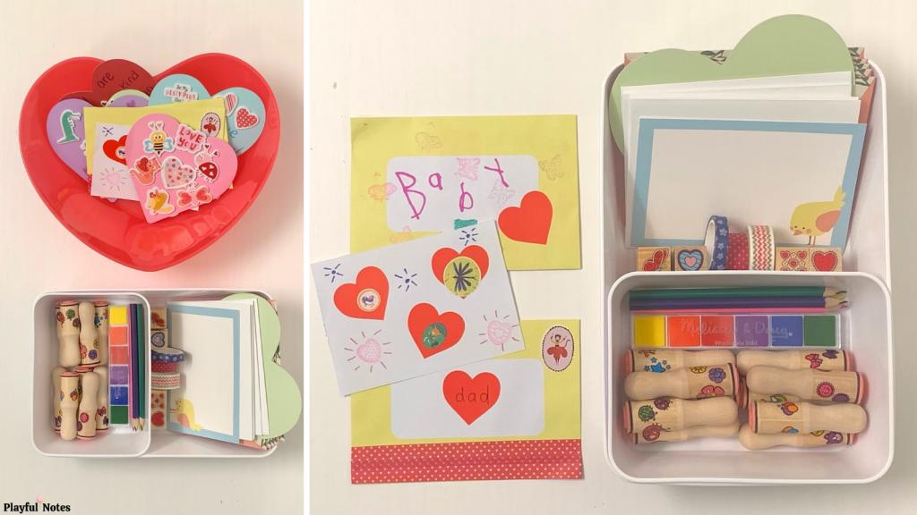 Valentine's Day creation station for kids
