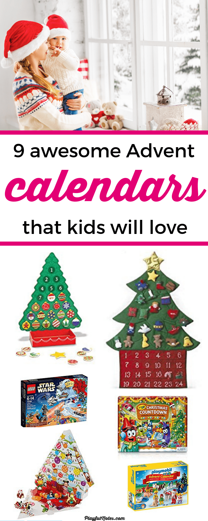 Awesome Advent calendars for young kids: Are you looking for an awesome kids Advent calendar? Here is a list of great ideas that can bring a lot of joy to young kids! --- Advent calendar ideas | Printable Christmas activity ideas #ChristmasForKids