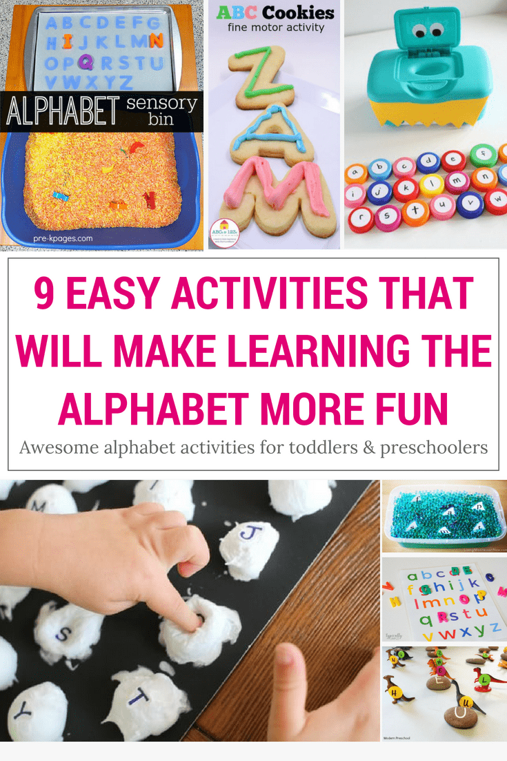 Make learning more fun with these awesome alphabet activities for young kids! They are great for toddlers and preschoolers and they are easy to set and a lot of fun!