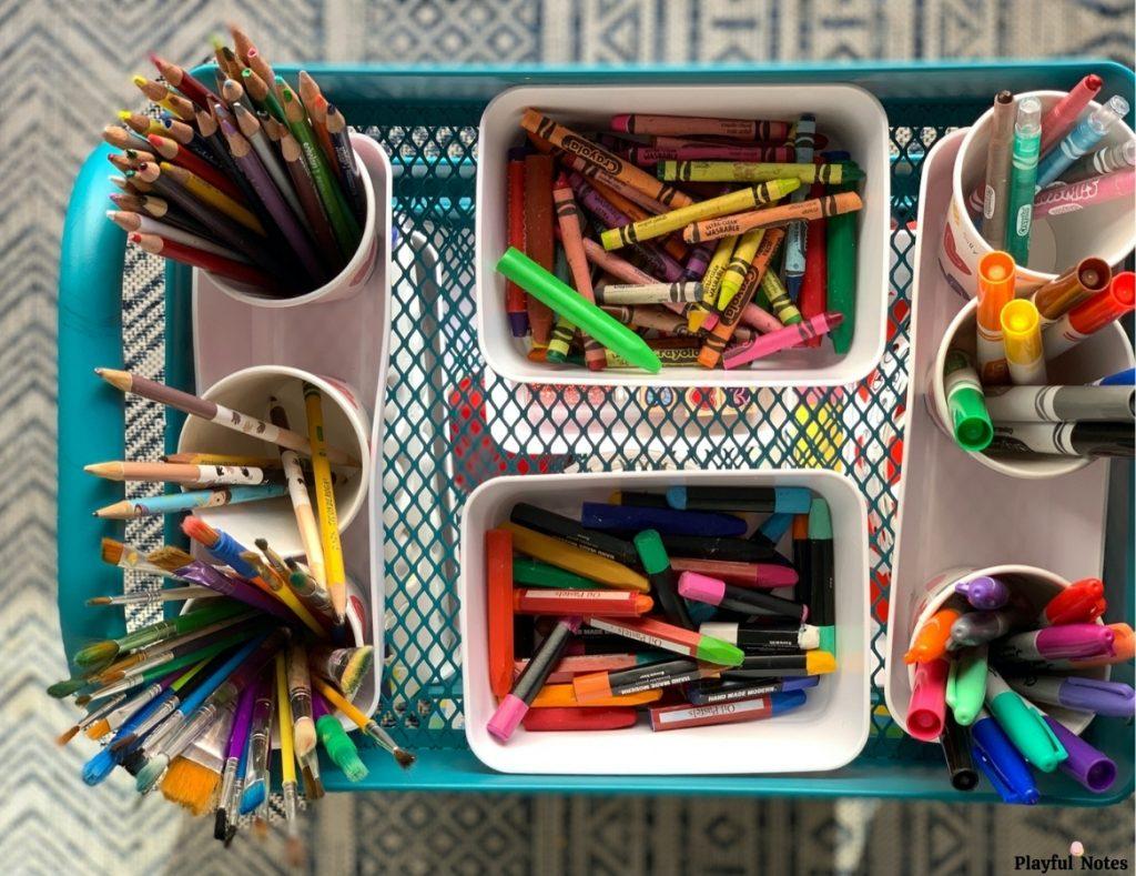 art cart for kids drawing supplies