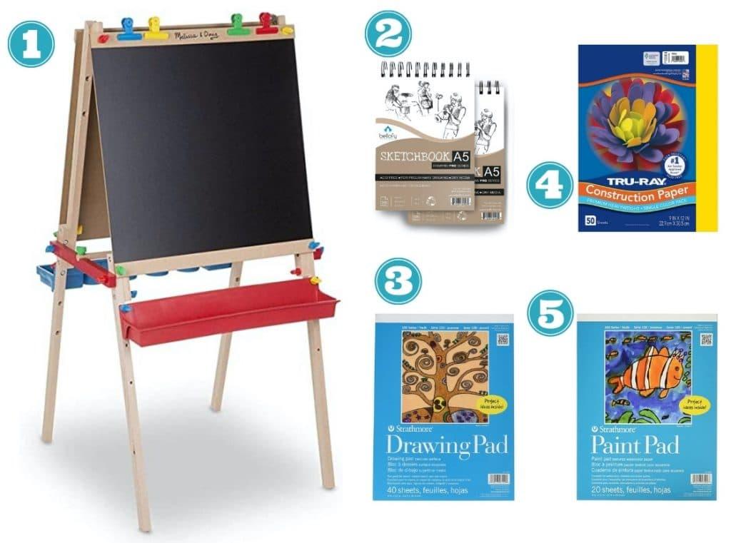 art supplies for kids paper
