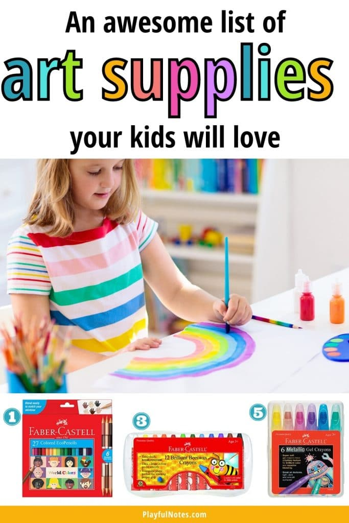 Discover an awesome list of art supplies for kids that will bring hours of creative fun!