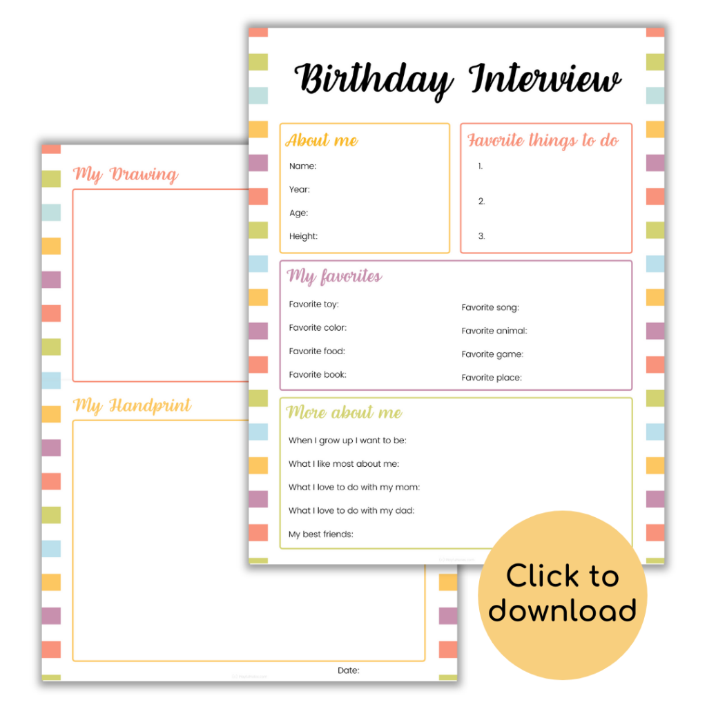 birthday interview for kids